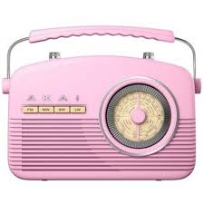 Akai Retro Kitchen Radio Pink