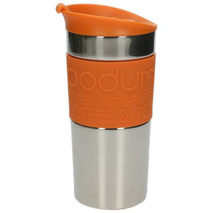 Bodum (11068948) Stainless Steel Double Wall Travel Mug - Orange