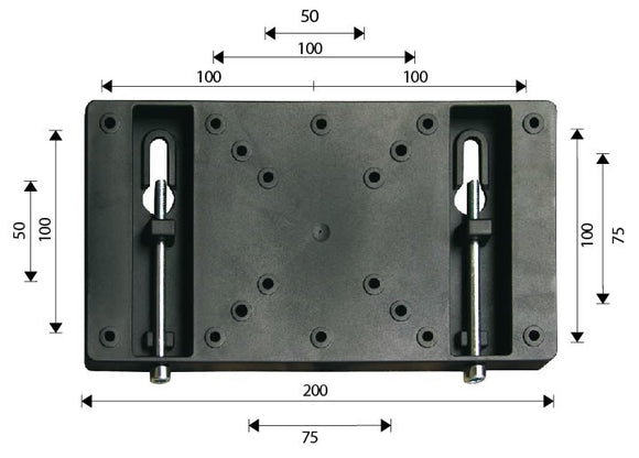 OMB Budget Flat to wall TV Mount 10 to 30 Inch