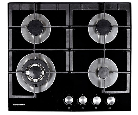 Normende (HGX603BGL) 60cm Gas Hob with Wok Burner