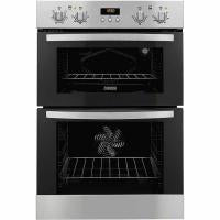 ZANUSSI (ZOD35511XK) MULTIPLUS INTEGRATED 60CM DOUBLE OVEN, STAINLESS STEEL AND BLACK