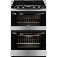 Zanussi Double Oven Electric Cooker With Ceramic Hob - Stainless Steel (ZCV68300XA)