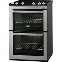 Zanussi Double Oven Electric Cooker With Ceramic Hob - Stainless Steel (ZCV667MXC)