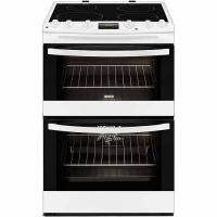 Zanussi Avanti Double Oven Electric Cooker With Induction Hob - White (ZCI68300WA)