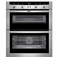 NEFF (U17M52N3GB) Electric Built-under Double Oven - Stainless Steel