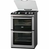Zanussi 60cm Double Oven Gas Cooker - Stainless Steel (ZCG664GXC)
