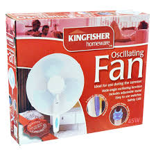"Kingfisher 16"" Oscillating Pedestal Fan"