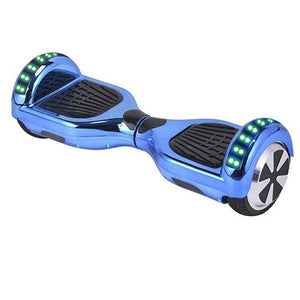 "Blue 6.5"" Chrome Hoverboard"