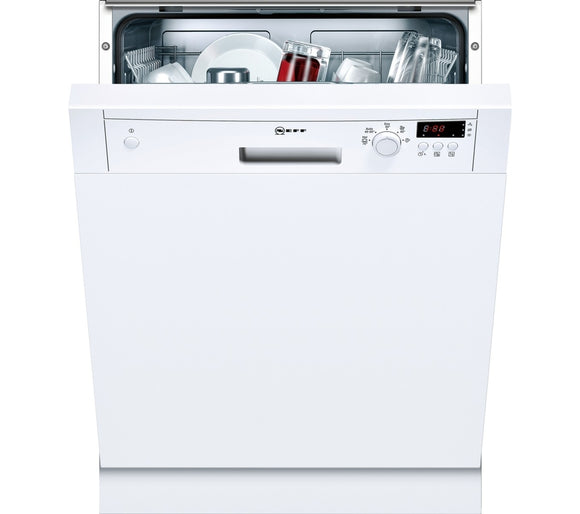 Neff (S41E50W1GB) White Standard Dishwasher, 60cm Semi Integrated