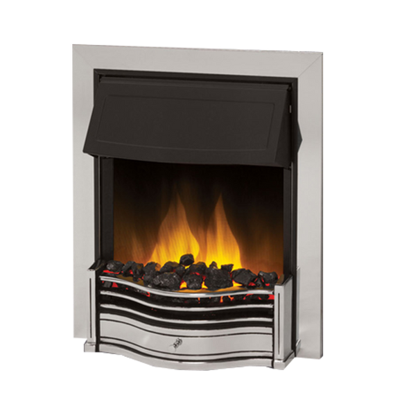 Dimplex Optiflame Danesbury LED Chrome Inset Fire Model Number : DAN20CH-LED