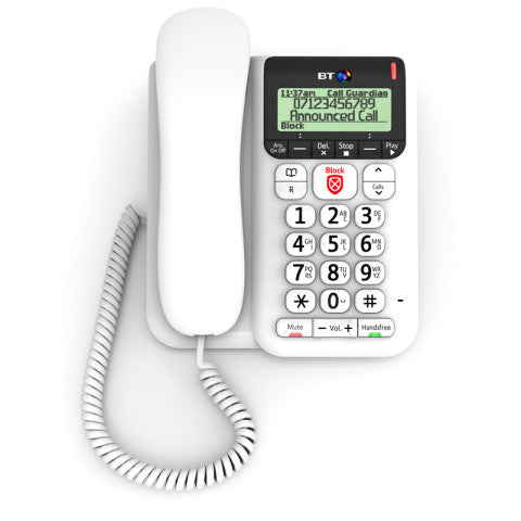 BT (83154) Decor 2600 Advanced Call Blocker Telephone with Answer Machine