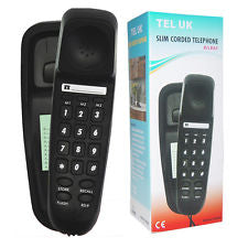 Slim Corded Telephone Bilbao - Black
