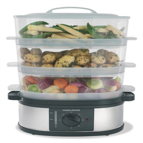 Morphy Richards (48755) 3 Tier Food Steamer