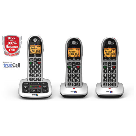 BT (84668) BT4600 Call Guardian Advanced Nuisance Call Blocker - Triple Digital Phone