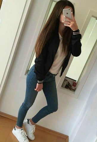 autumn jeans and sneakers clothing inspiration