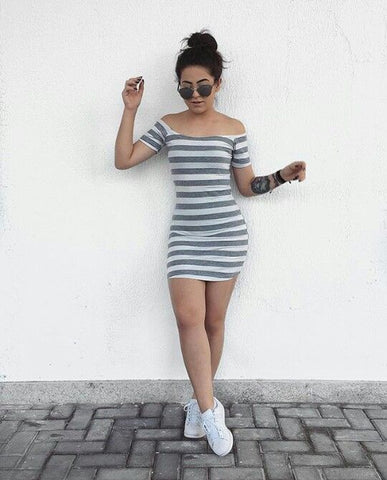 dress and sneakers outfit ideas for fall