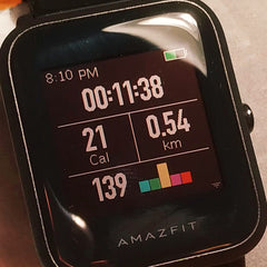orange zone amazfit bip workout