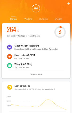 mi fit walking heart rate amazfit