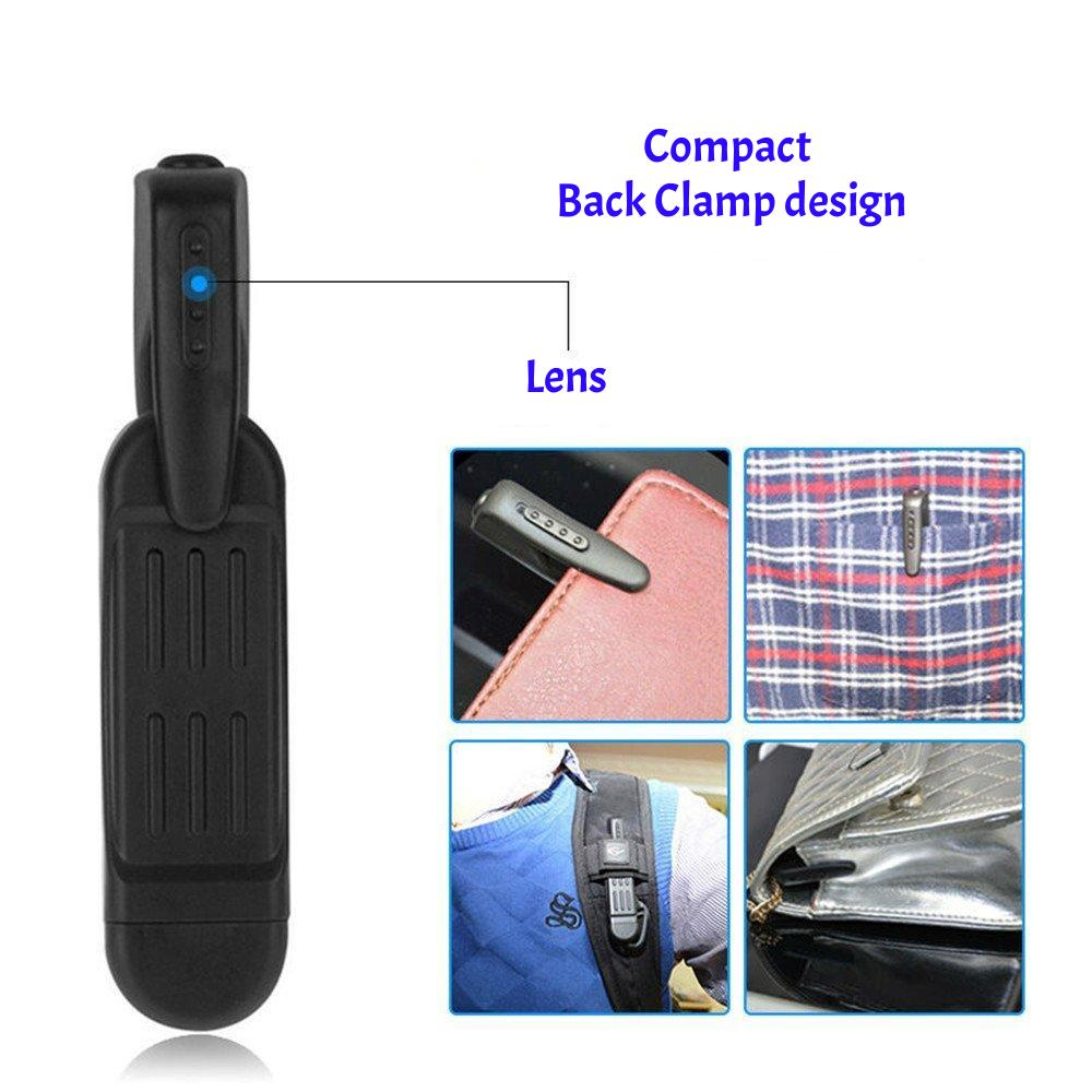 Pen sized hd mini camera. back clamp design