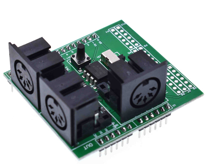 MIDI Shield Breakout Board for Arduino
