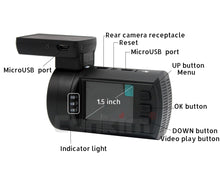 Load image into Gallery viewer, Dual Lens Dash Camera with GPS