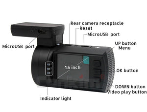 Dual Lens Dash Camera with GPS