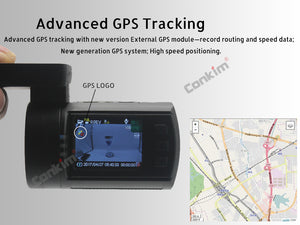 Advanced GPS tracking Dual Lens Dash Camera