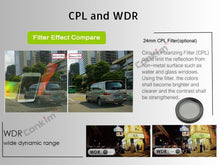 Load image into Gallery viewer, Dual Lens Dashcam cpl filter included