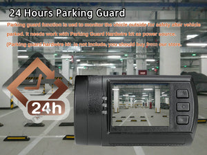 Dual Lens Dash Camera 24 hour parking guard