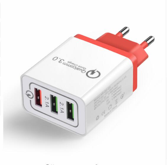 Chargeur USB multiple 3 ports compatible Quick Charge 3.0