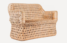 Load image into Gallery viewer, Woven Palm Love Seat
