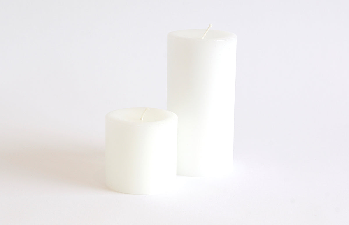 Hand Poured White Pillar Candle - Westward Home