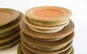 Aged Terracotta Saucers - Westward Home