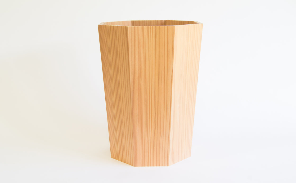 Japanese Cedar Waste Bin - Westward Home