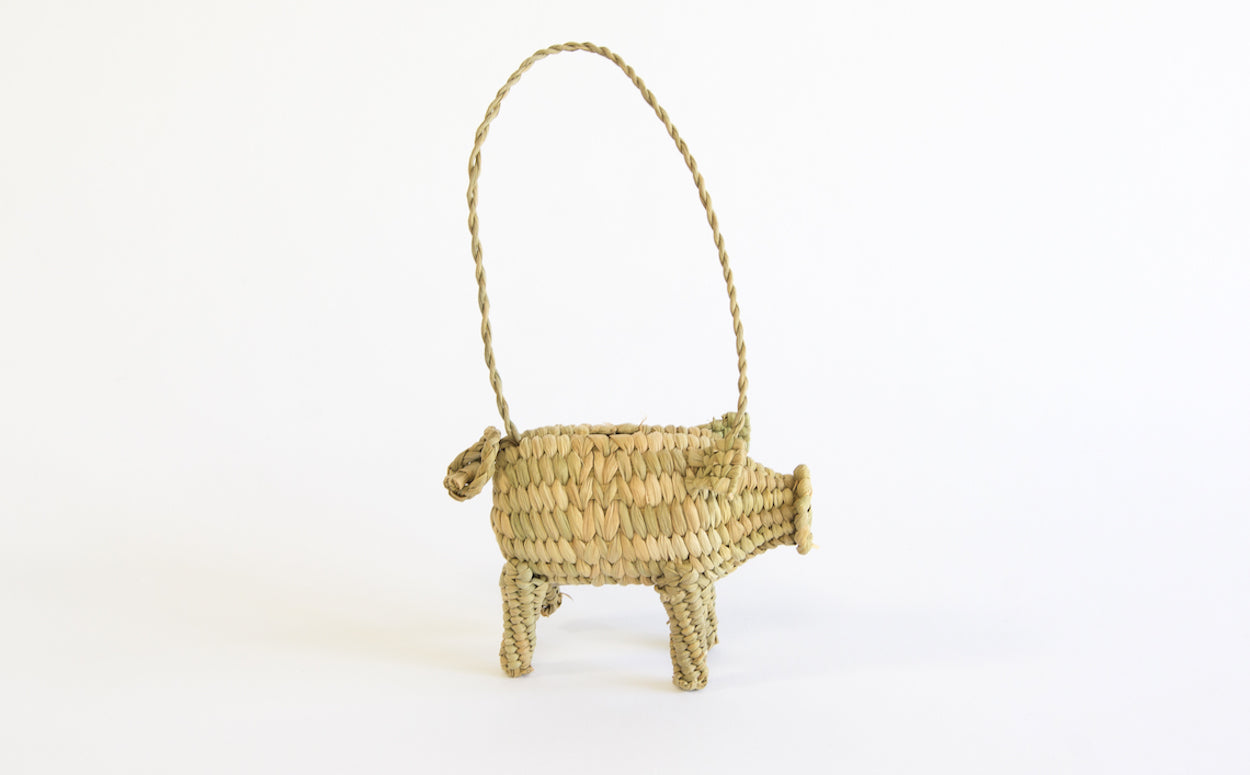 Handwoven Pig Ornament - Westward Home