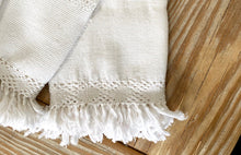 Load image into Gallery viewer, Handwoven Ivory Fringe Napkins