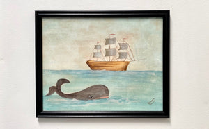 Whale Watercolor Painting V