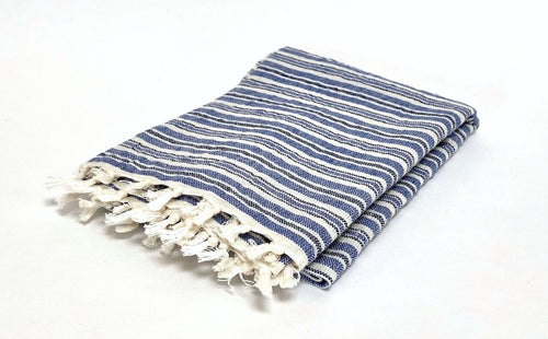 Chambray Stripe Hand Towel
