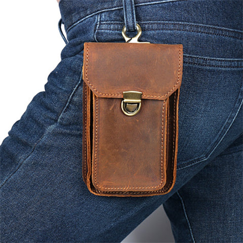 Men Casual Design Multifunction Small Waist Bag Phone Pouch