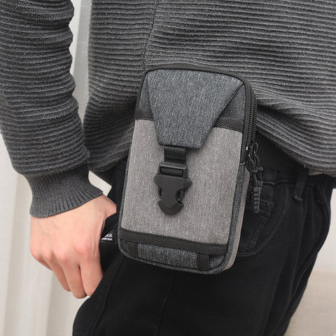 Men's Casual Solid Messenger Waist Bag