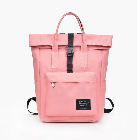 Women Solid Internal Frame Zipper Casual School Travel Bagpack