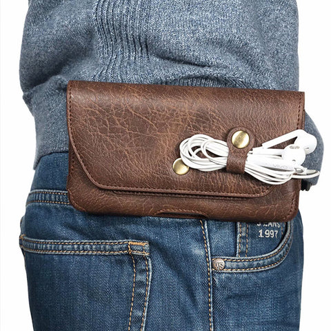 Men's High quality Durable Small Phone Bag Belt Clip Case