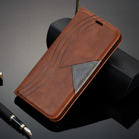 Magnetic Flip Phone Case Wallet Holster Stand Book Cover