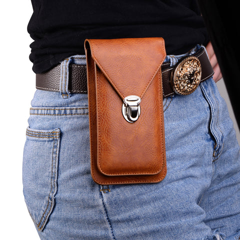 Men's Phone Pouch Hook Loop Belt Clip Case Wallet Bags