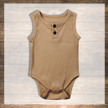Load image into Gallery viewer, Baby Girl Baby boy Body Tank top Pretty Stylish Baby Clothes Hong Kong NinyMini camel.