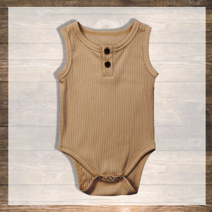 Baby Girl Baby boy Body Tank top Pretty Stylish Baby Clothes Hong Kong NinyMini camel.