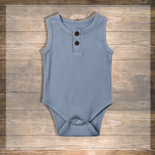 Load image into Gallery viewer, Baby Girl Baby boy Body Tank top Pretty Stylish Baby Clothes Hong Kong NinyMini blue