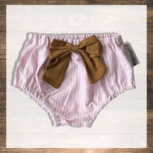 Load image into Gallery viewer, bloomer-pink stripes-hong kong-baby-hamper-gift-baby-clothes-Pantie-Diaper-cover