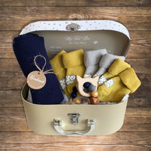 Load image into Gallery viewer, Baby Gift Hamper Swaddle and Baby Socks
