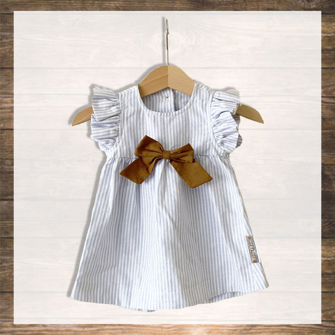 Baby Girl Dress Pretty Stylish Baby Clothes Hong Kong NinyMini blue stripes